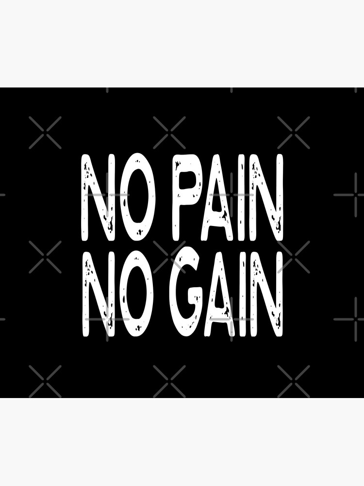 No Pain No Gain - Funny Workout Gym Spin Barre Yoga Class T Shirt  von greatshirts