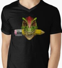 Dino Art Crunch V-Neck T-Shirt