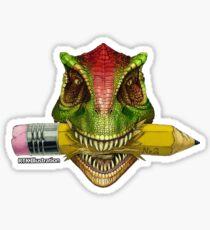 Dino Art Crunch Sticker