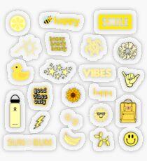 Gelbes Sticker Pack Transparenter Sticker