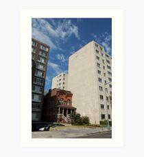 Juxtaposed Buildings Art Print