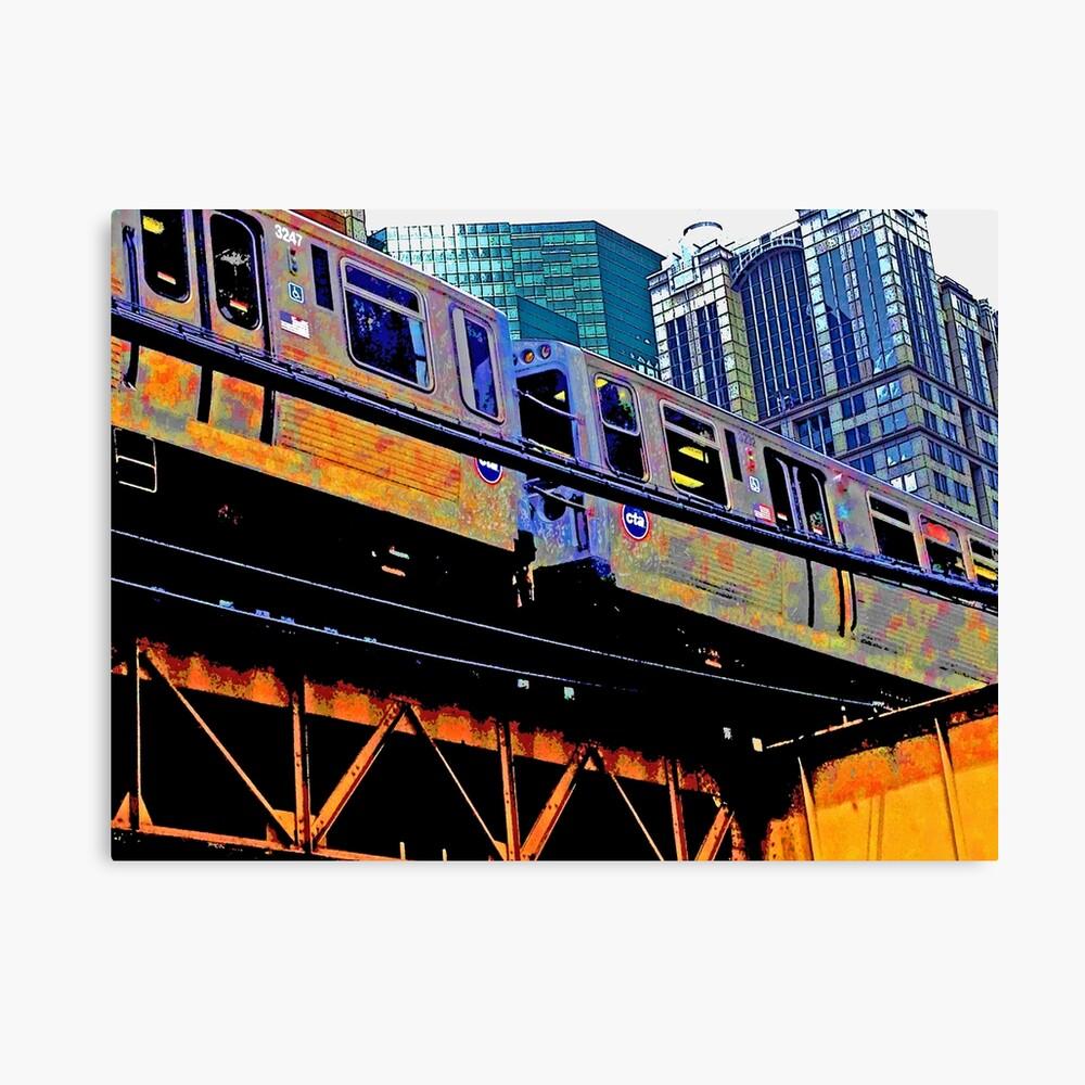 Chicago l, Chicago el - series: 1 Canvas Print