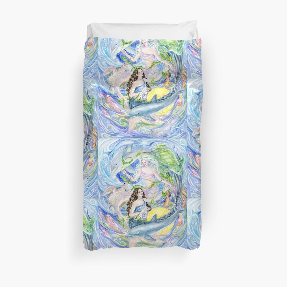 Yin Yang Meerjungfrauen Bettbezug