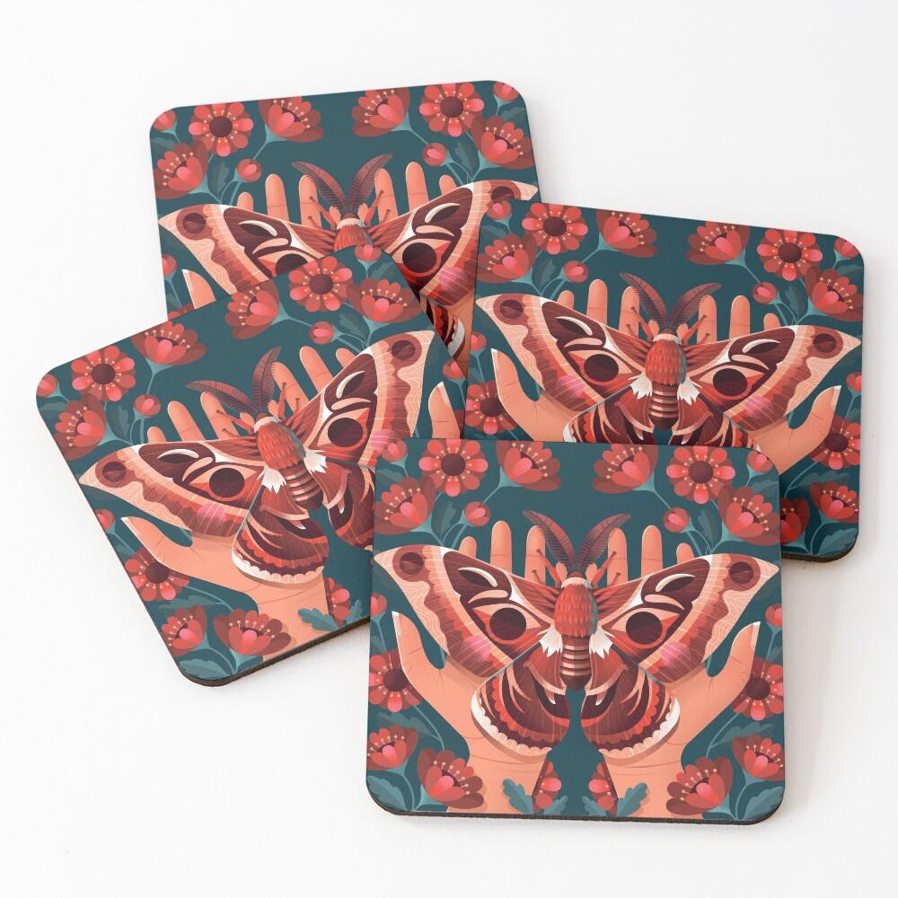 Moth Coasters (Set of 4)