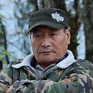 OLD MAN at Gangtok  by JYOTIRMOY Portfolio Photographer