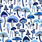Blue Mushrooms  by TigaTiga