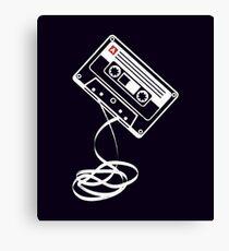 Cassette Tape Audio Analog Old School Music Geek Vintage Design Canvas Print