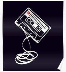 Cassette Tape Audio Analog Old School Music Geek Vintage Design Poster