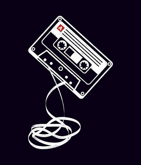 'Cassette Tape Audio Analog Old School Music Geek Vintage Design'  Photographic Print by geardesignworks