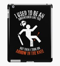 Arrow In the Knee 2.0 iPad Case/Skin