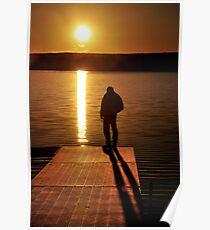 Sunset over Bear Creek Lake # 2 Poster