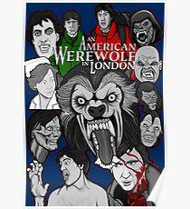 American Werewolf in London original collage art Poster