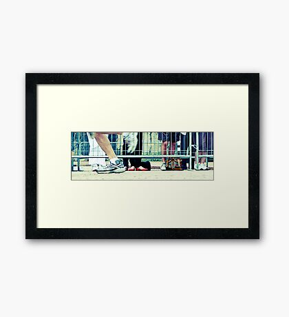 On The Home Stretch Framed Print