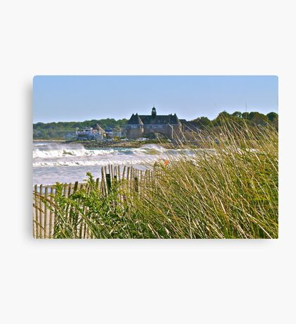The Tower Above the Waves and Sea Grass - Narrgansett - Rhode Island - US *featured Canvas Print