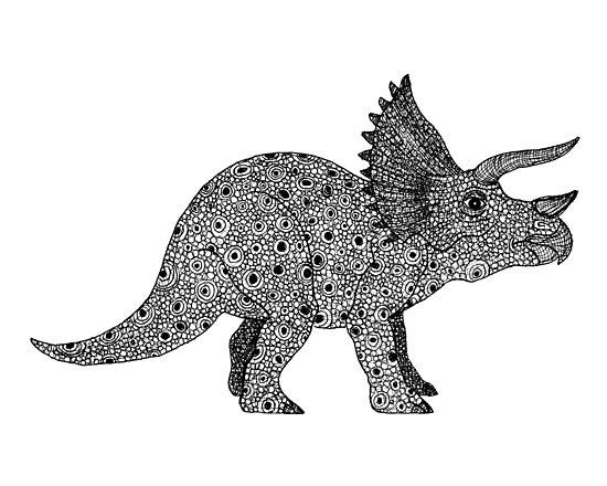 Triceratops dinosaur by joanna albright