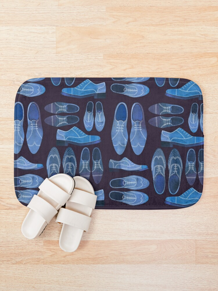 Alternate view of Blue Brogue Shoes for Hipsters and Gentlemen Bath Mat