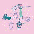 Naomi - Floral - Confetti - Single Motif by emshannonart