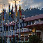 Sri Lanka. Nuwara Eliya. Grand Hotel. Sonnenuntergang. von vadim19