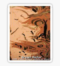 BROWN GATOR Sticker