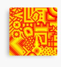 pixel mess red yellow Canvas Print