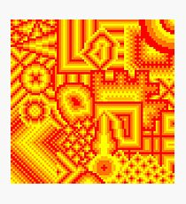pixel mess red yellow Photographic Print
