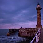 Incoming Tide at Whitby Harbour by Mark White