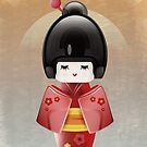Kokeshi in Red by Richard Rabassa
