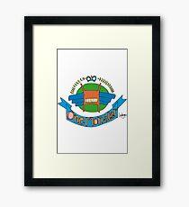 Monster Coat of Arms Framed Print