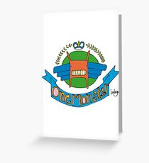 Monster Coat of Arms Greeting Card