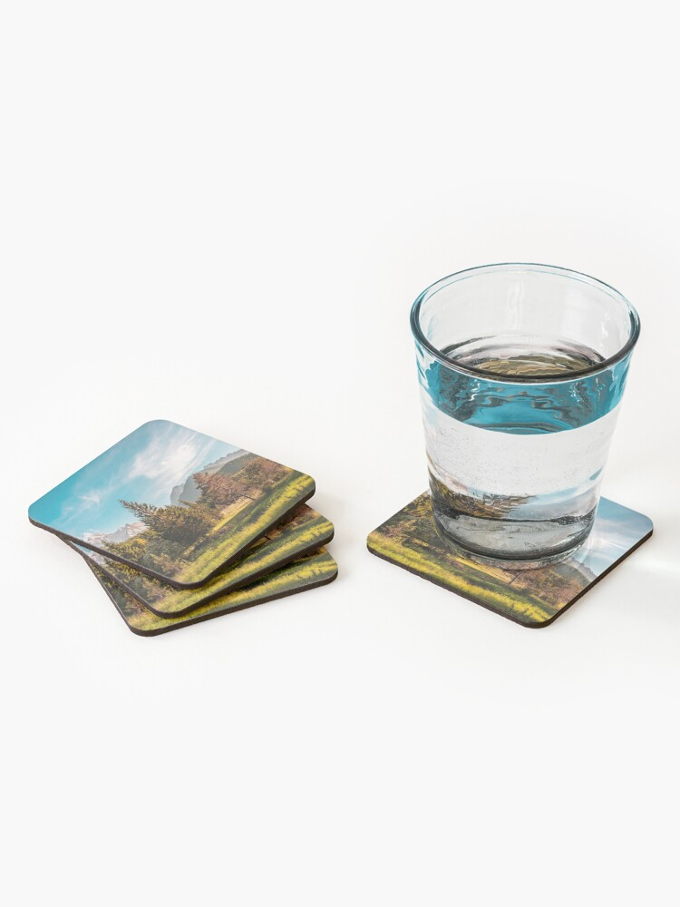 Alternate view of Summer has arrived in the italian alps Coasters (Set of 4)
