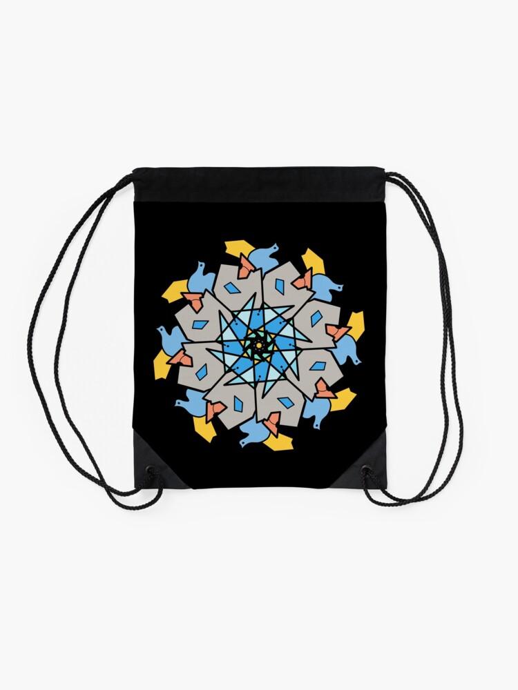 Alternate view of Morning Bird Mandala Drawstring Bag