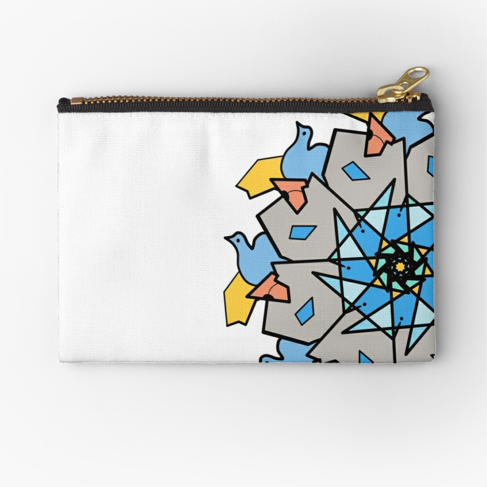 Morning Bird Mandala Zipper Pouch
