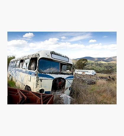 Graveyard of Buses #1 Photographic Print