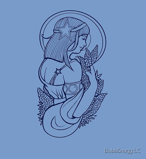 Lone Star Bluebonnet-Göttin von BubbSnugg LC