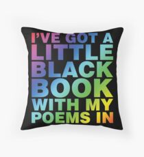 A Little Black Book Floor Pillow
