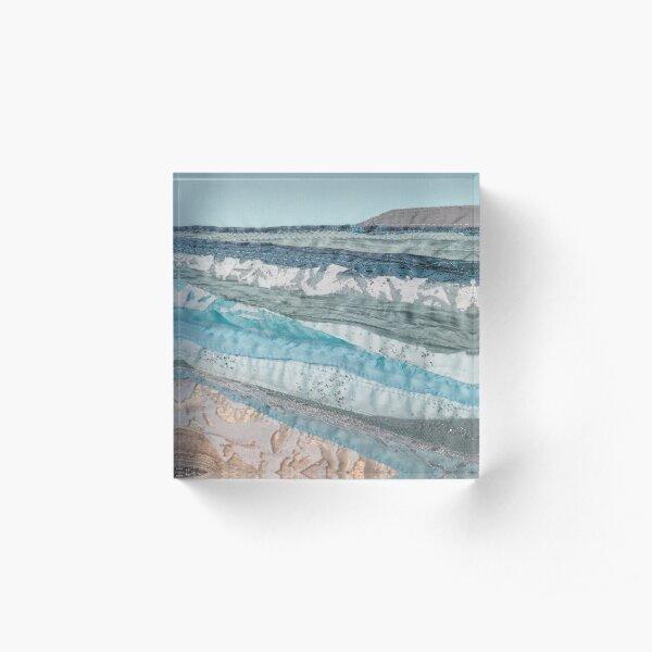Waves stacking up Acrylic Block