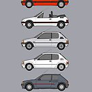 Peugeot 205 Classic car collection by RJWautographics