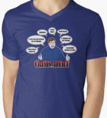 Community -- CRISIS ALERT! Mens V-Neck T-Shirt