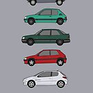 Peugeot special editions classic car collection by RJWautographics