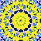 Lemon blue mandala  by fuzzyfox