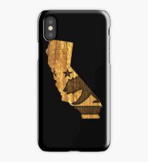 California State Bear (wood design) iPhone Case/Skin