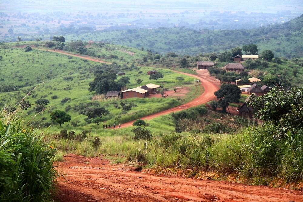 Orange Winding Road - Ring Road, Cameroon by helenlloyd