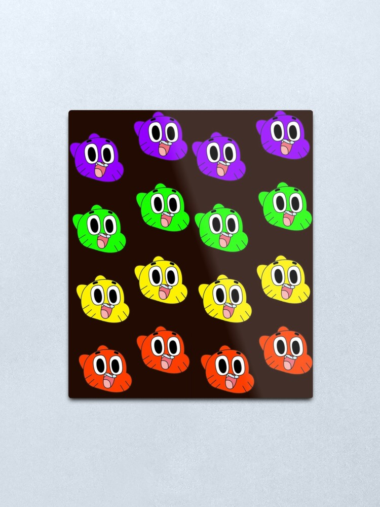 Alternate view of Rainbow Happy Gumball Watterson Metal Print