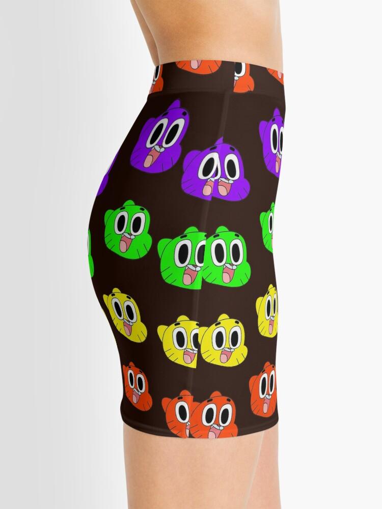 Alternate view of Rainbow Happy Gumball Watterson Mini Skirt