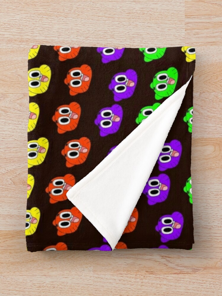 Alternate view of Rainbow Happy Gumball Watterson Throw Blanket