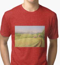Tuscan Farmhouse, Tuscany, Italy Tri-blend T-Shirt