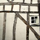 Timber framed house & square window, Sandwich, Kent by David Carton