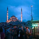 Market under the watch of the Blue Mosque by JLaverty