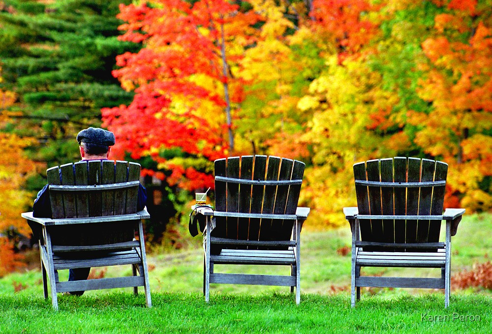 Autumn Chairs by Karen Peron