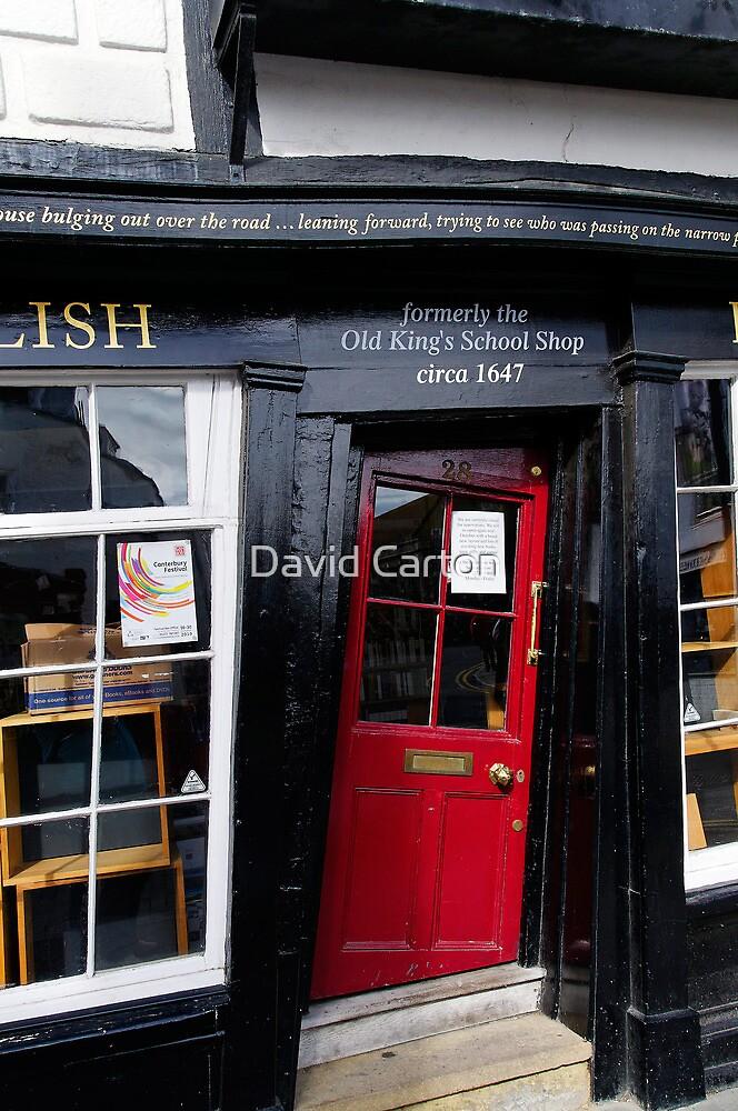 Unusual door, The Old King's School Shop, Canterbury, Kent by David Carton